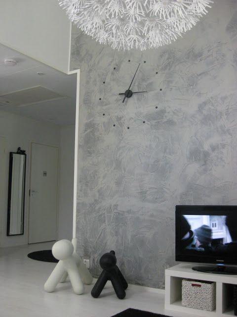 Tikkurila Tunto painted grey wall