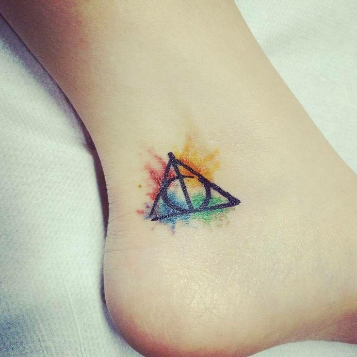 My new Harry Potter tattoo #Harrypotter #deathlyhallows #harrypottertattoo