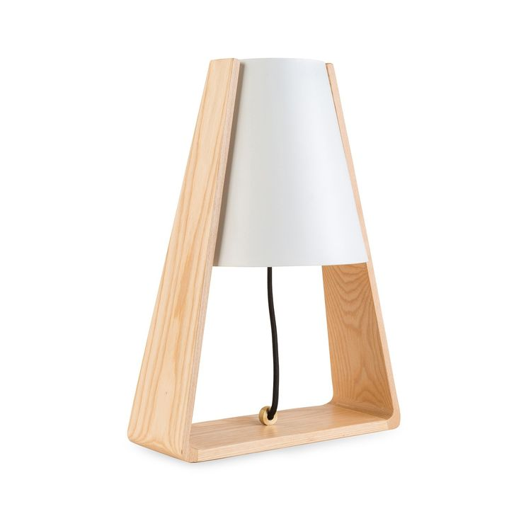 Designed in Denmark and exclusive to Heal's in the UK, the Bend Table Lamp is a retro styled design that is in-keeping with the contemporary trend for mixed material lighting. The geometric silhouette wraps an ash bent wood frame around minimal white shade to create a lightweight lamp ideally suited to a sofa or bedside table.