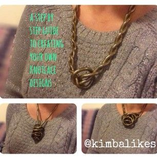 @kimbalikes has come up with some fabulous NEW ways to wear a Knotlace (or 2!) check them out...... http://kimbalikes.com/knotlace-jewellery/  #style #fashion #jewellery #accessory #blogger