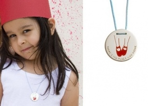 """Over The Rainbow - THERE'S NO PLACE LIKE HOME Necklace - Sterling Silver and Cord  Item 1105831866    Click those little red shoes together and repeat after me: """"There's no place like home""""    A delightful, sterling silver and resin pendant, stamped with those magical words on an adjustable cotton cord."""