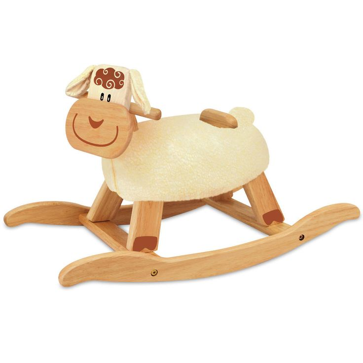 Wooden Rocking Horse Sheep Ride On Lamb Rocker Baby Activity Toy & Gift 18Mth+
