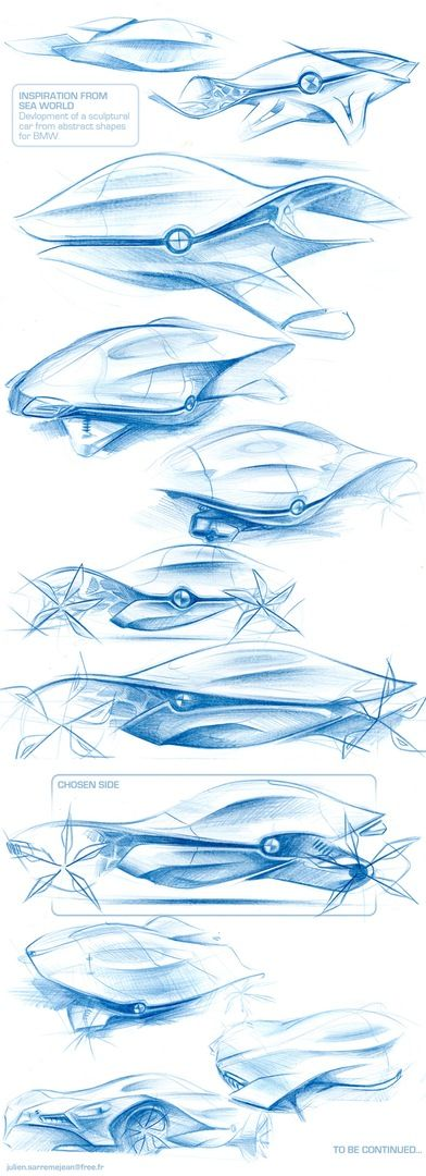 organic shaped bmw concept scetches inspired by oncean creatures by eclips on localmotors.com
