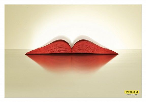 Outdoor ad: Crossword Bookstores: Lips