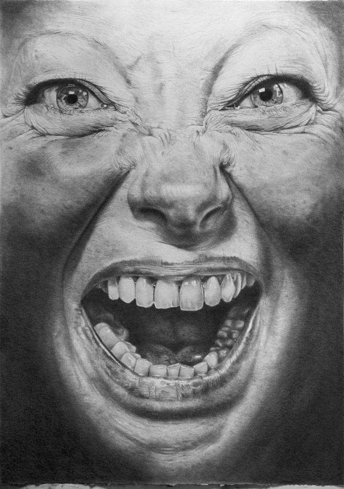 Philippe Huart, Affliction II 2013, Graphit auf Papier Graphite on paper, 124 x 88 cm