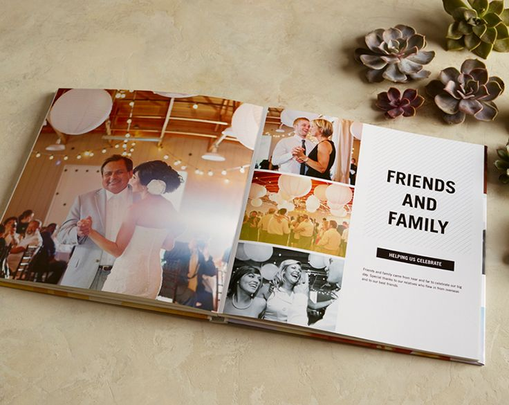 Make your wedding day memories last with a personalized wedding album. Showcase the day-of details, and combine candid and professional shots.