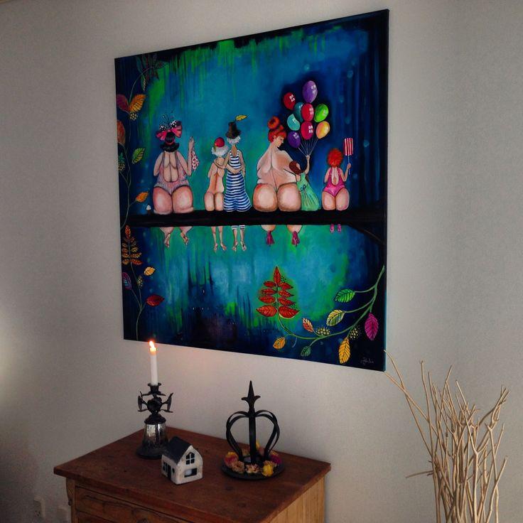 100 x 100 cm. Akryl på hørlærred