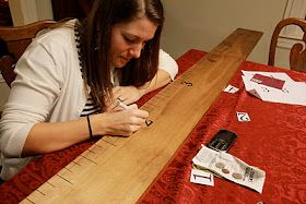 Organized Chaos: Jumbo wooden ruler growth chart DIY (nice tip on adding numbers - mine turned out great!!)