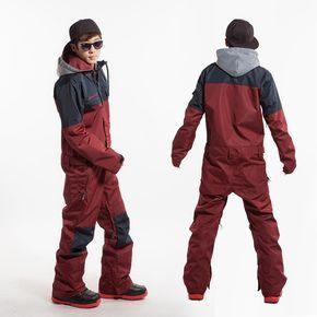 4 sizes waterproof windproof thermal one piece jumpsuit hooded skiing jacket+pant winter snowboarding skateboarding skiing sets