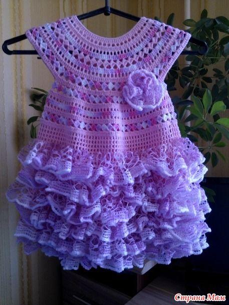 Платье для девочки с рюшами