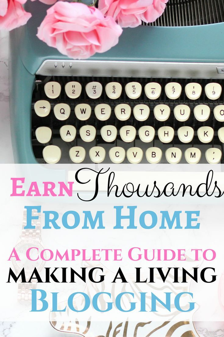 Make money from home by blogging! I make thousands per month and am showing you exactly how you can make money blogging, too!
