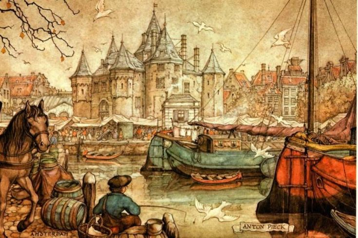 Fishing - Anton Pieck