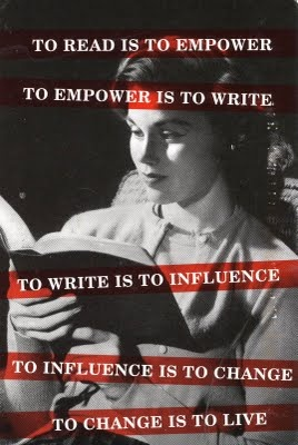 Reading is power. I like this
