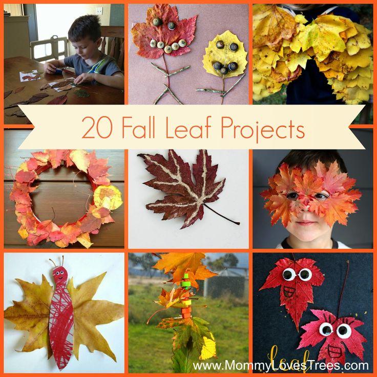 192 Best Fall Leaf Kids Crafts Images On Pinterest