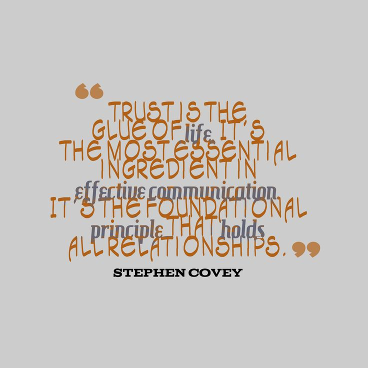 Download Hi-Res picture from Stephen Covey quote about trust.