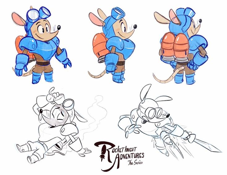 RocketKnight Adventures by Morpheus306.deviantart.com on @DeviantArt #characterdesign #rocketknightadventures #sparkster One of my favorite games growing up was RocketKnight Adventures for the Sega Genesis.  Here I imagined what the main character Sparkster would look like as a saturday morning cartoon.  Done in Procreate.