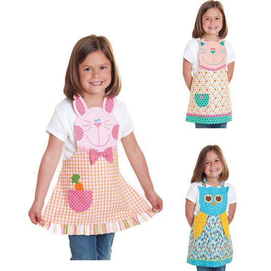 Clotilde - Fun Friends Child Apron Pattern