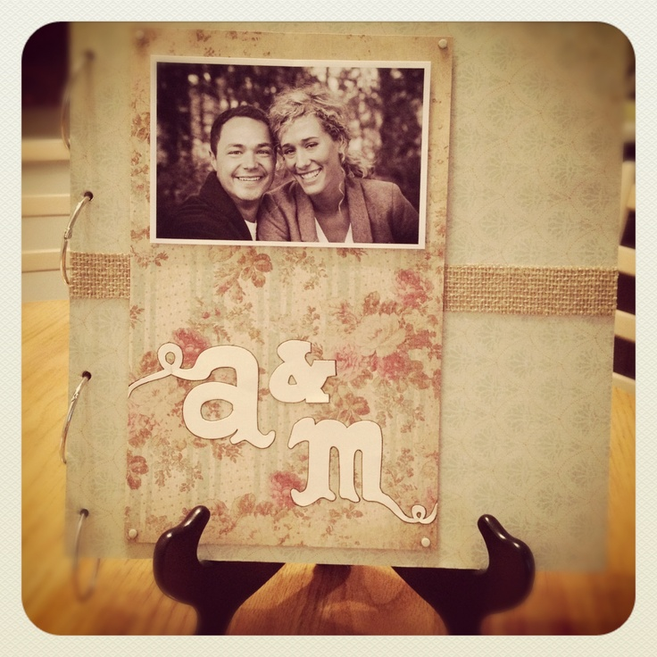 DIY Wedding Guest Book on www.TheResplendent.com