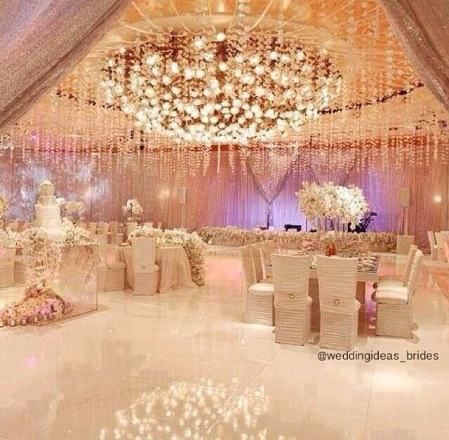 Extravagant wedding decor