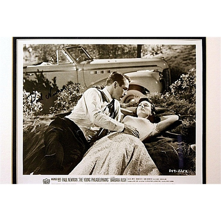 """""""The Young Philadelphians"""" starring Paul Newman & Barbara Rush as seen at http://www.icollector.com/The-Young-Philadelphians-Movie-Still_i11245590"""
