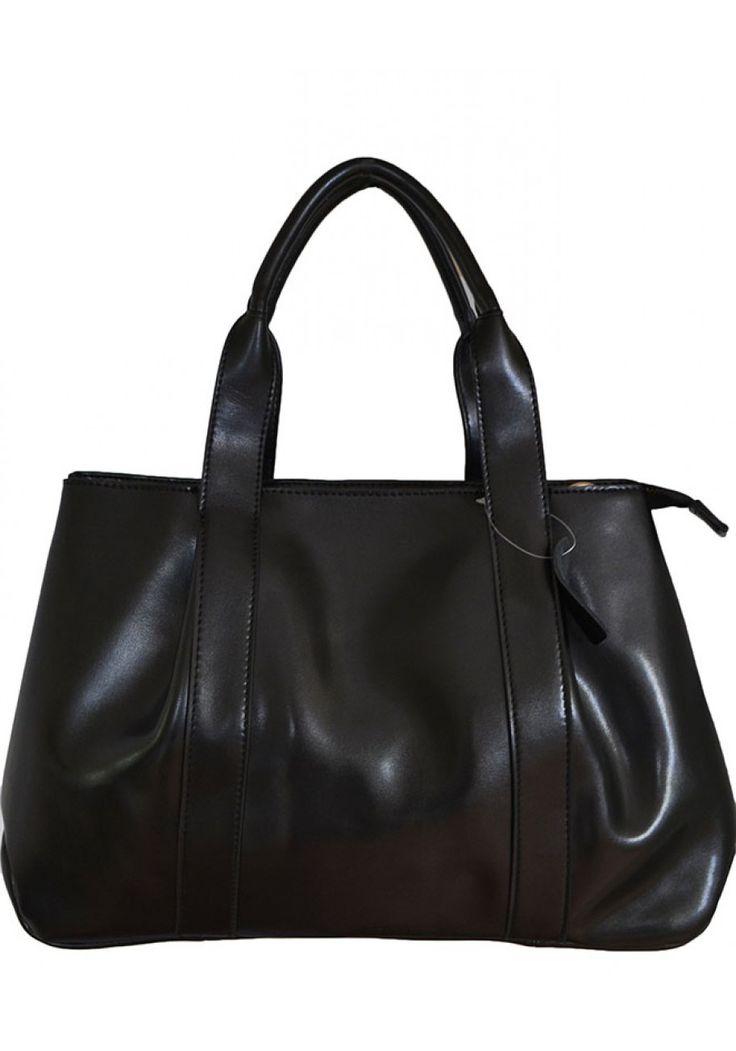 Adelynn Trudeau -- Women's Black Leather Handbag****SOLD OUT****