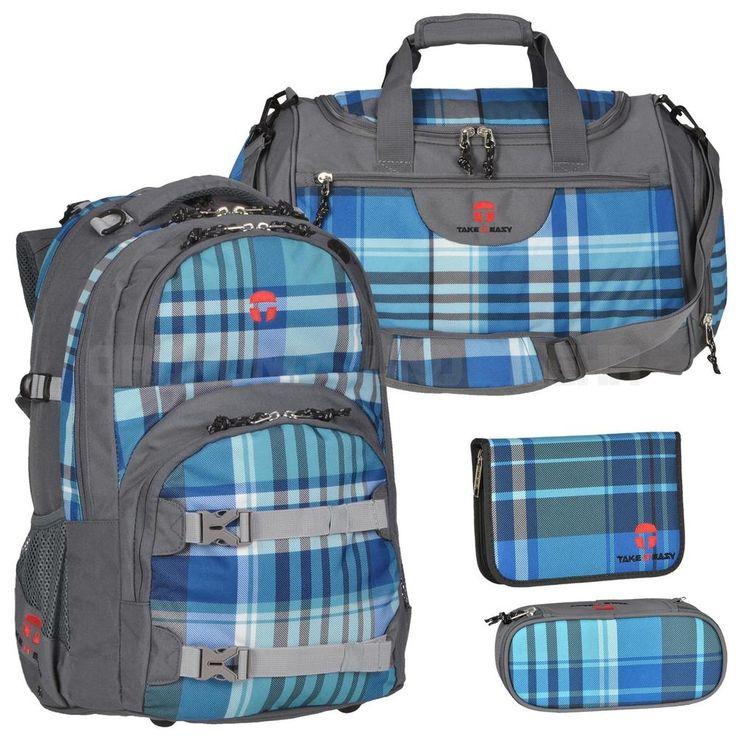 TAKE IT EASY Schulrucksack ATLANTIC SET 4-teilig Schulranzen Rucksack OSLO Flex