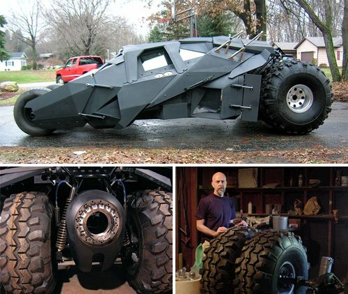 Guy Builds Homebrew Batman Tumbler – Becomes King Of The Internet For A Day