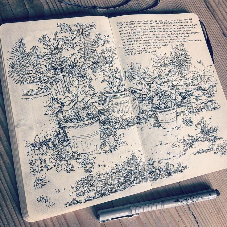 Inspirierender Stadtgarten mit zur Schau getragene…