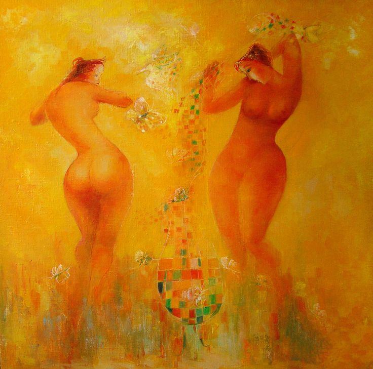 """""""Butterfly fairytale"""" oil on canvas, 100x100"""