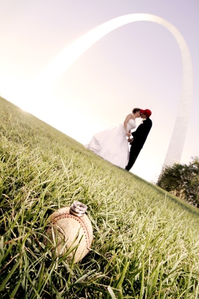 How cool for a St Louis couple's wedding! Especially if you have season baseball tickets!  Oh, yea! :)