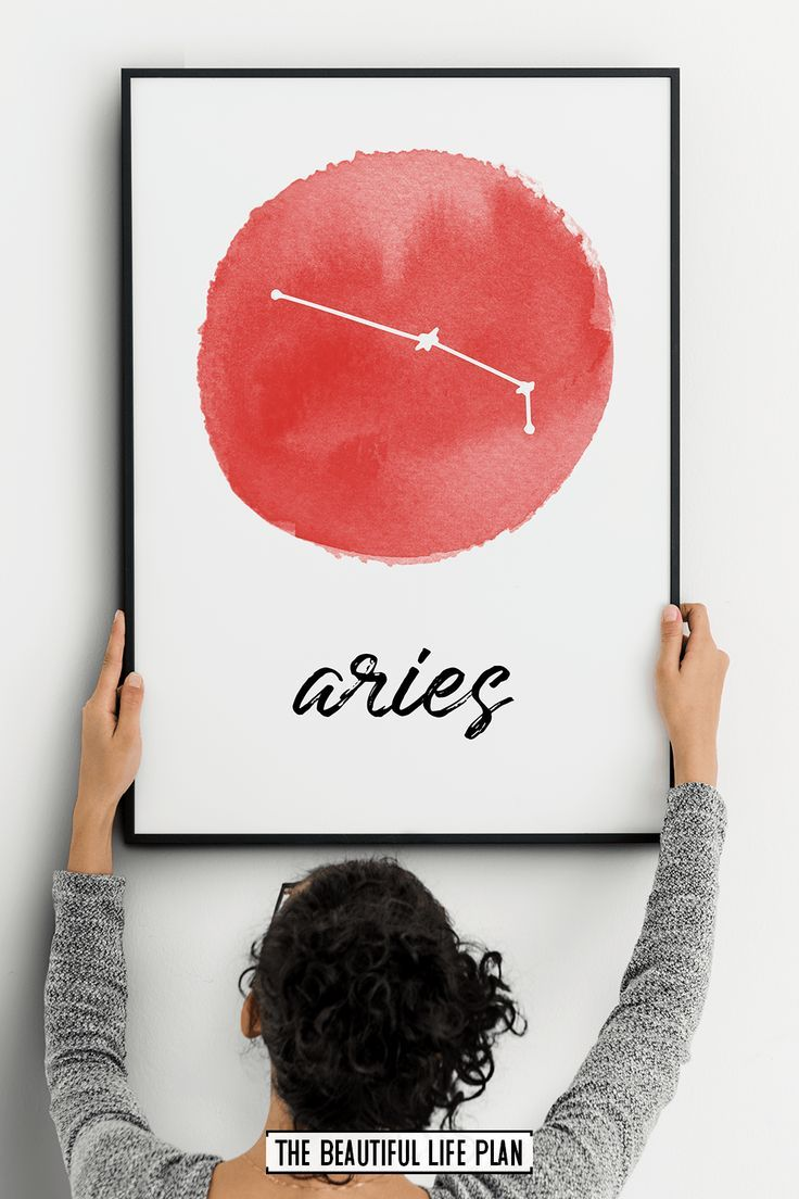 Aires Constellation Print, Printable Zodiac Sign Wall Art – Digital Download Art Print – A Home Decor Group Board