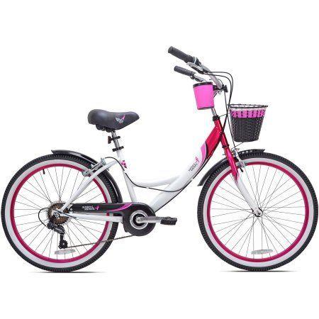 24 inch Susan G. Komen Cruiser Multi-Speed Girl's Bike, Black