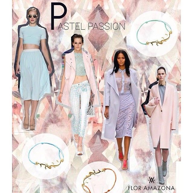Pastel passion! Nail the trend of the season with our Monkey Link collection.  www.floramazona.com