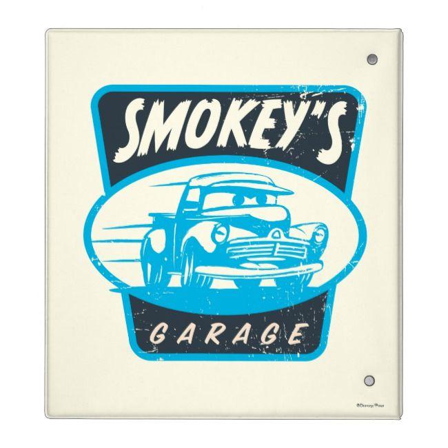 Cars 3 Smokey S Garage Binder Zazzle Com Vintage Car Garage