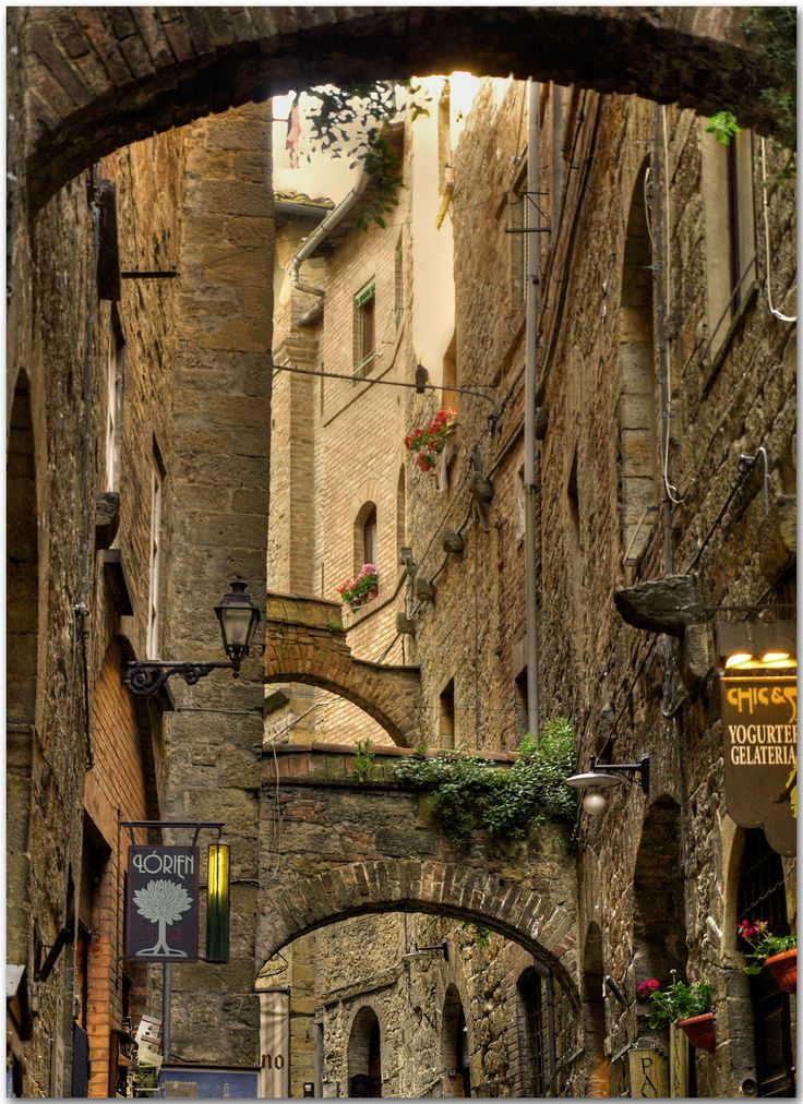 #volterra, Tuscany, Italy Charming small alley near the Piazza dei Priori.