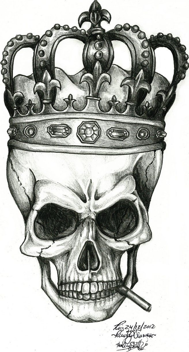 The King Skull By Renatavianna Skull Tattoos Skull Art Sugar Skull Tattoos