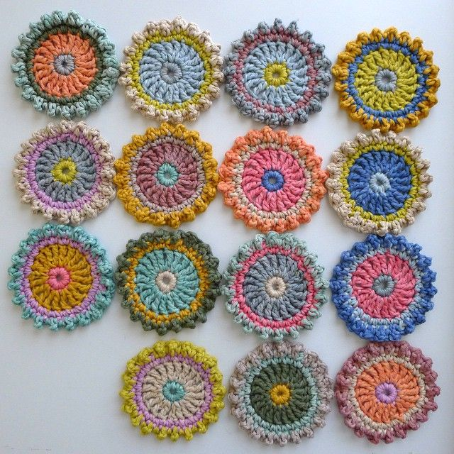 """""""Production line for the Milla Magic Square Pattern in Simply Crochet Issue 23"""