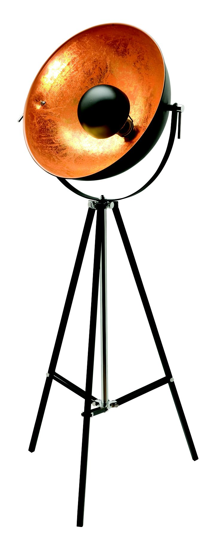 Looking to make a statement? The Coda architectural tripod floor lamp is available in Satin Chrome and Bronze, and will complete any modern or industrial space.
