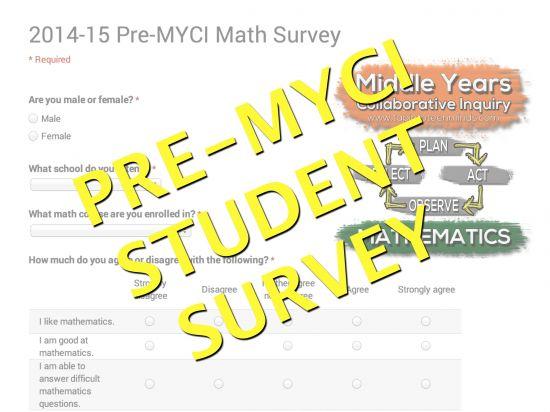 Pre-MYCI Student Mathematics Survey