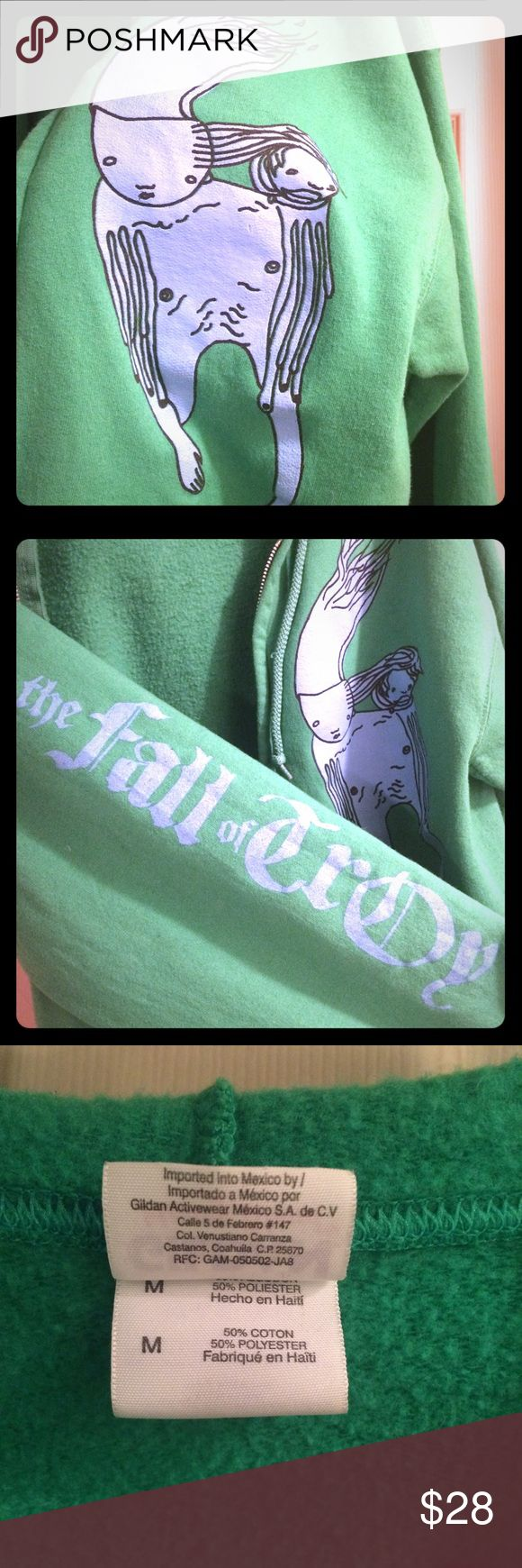 THE FALL OF TROY - Manipulator - Zip Up Hoodie THE FALL OF TROY - Manipulator - Kelly Green Zip Up Hoodie // Unisex size M // runs snug is a 50/50 blend // WORN ONCE was too small when I bought this. // still in great condition for FOT Fans looking for something vintage from the band. Tops Sweatshirts & Hoodies