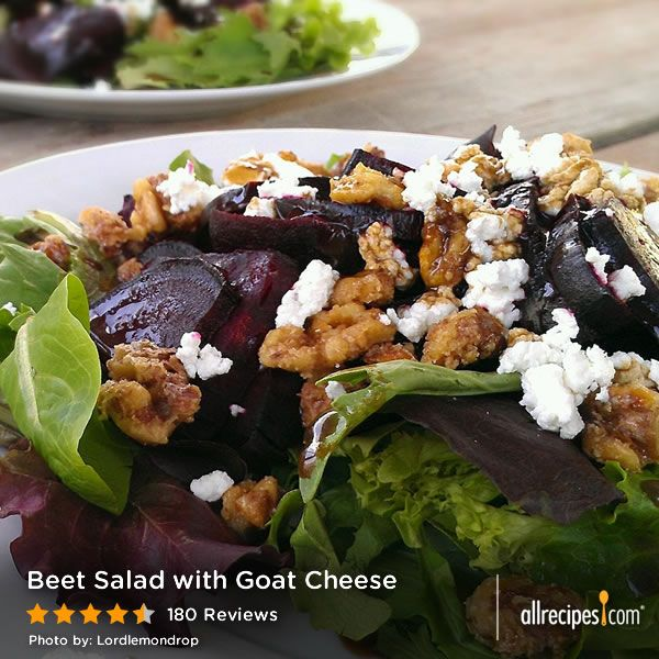 "Beet Salad with Goat Cheese | ""This salad is just delicious. I could ..."