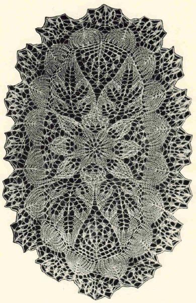 Салфетка 5 . Э.Критеску 'Художественное вязание спицами'