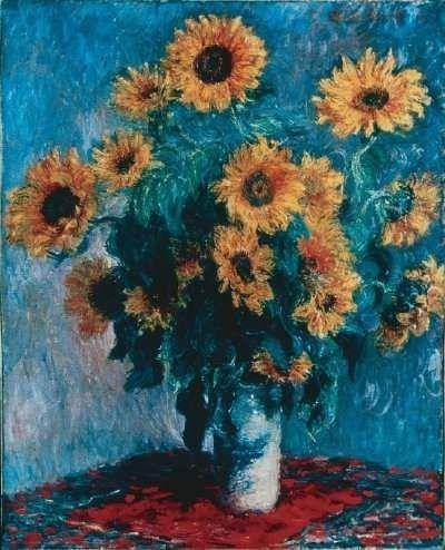 Bouquet of Sunflowers - Claude Monet - 1881 - oil