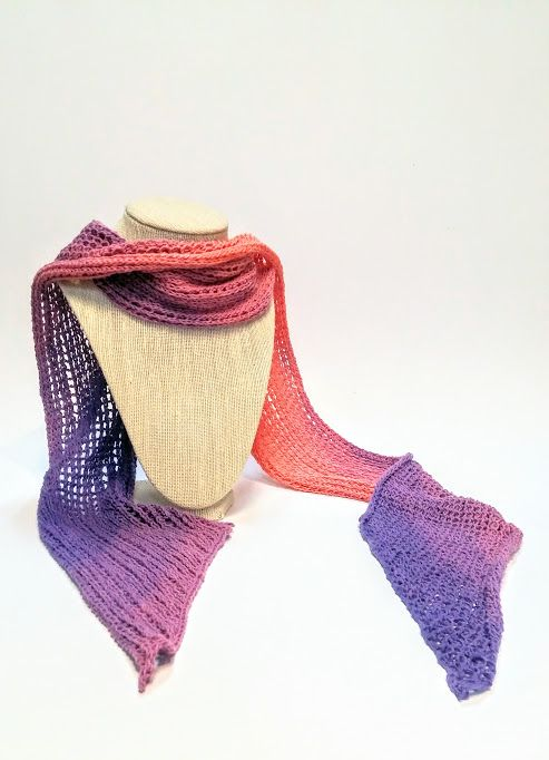 Purple Ombre Cotton Knit Scarf available at Harold + Ferne: The Local Goods Co.