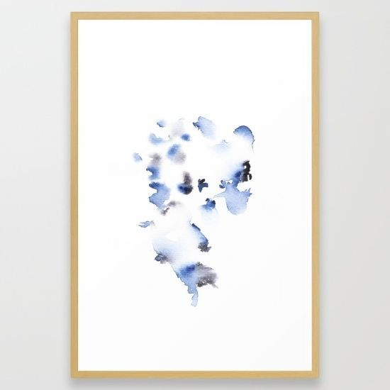 26  x 38  FRAMED LARGE WATERCOLOR FINE ART GICLEE PRINT ABSTRACT HOME DECOR