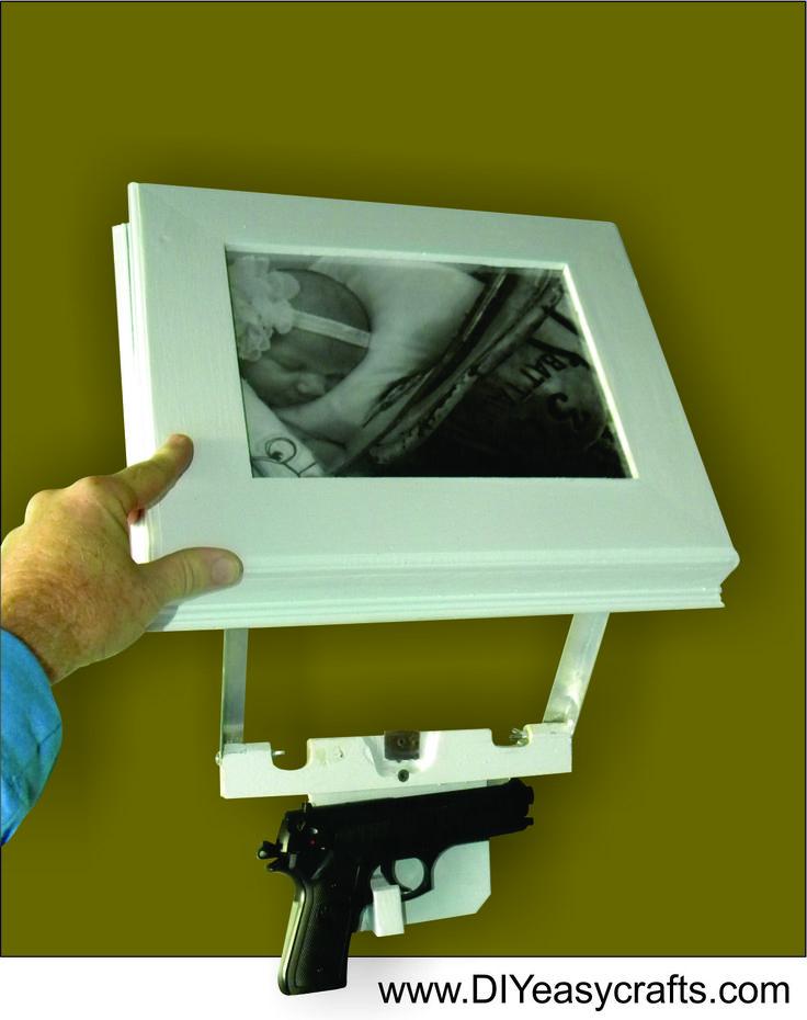 How to Make a DIY Secret Hidden Compartment Picture Frame Gun Safe. www.DIYeasycrafts.com