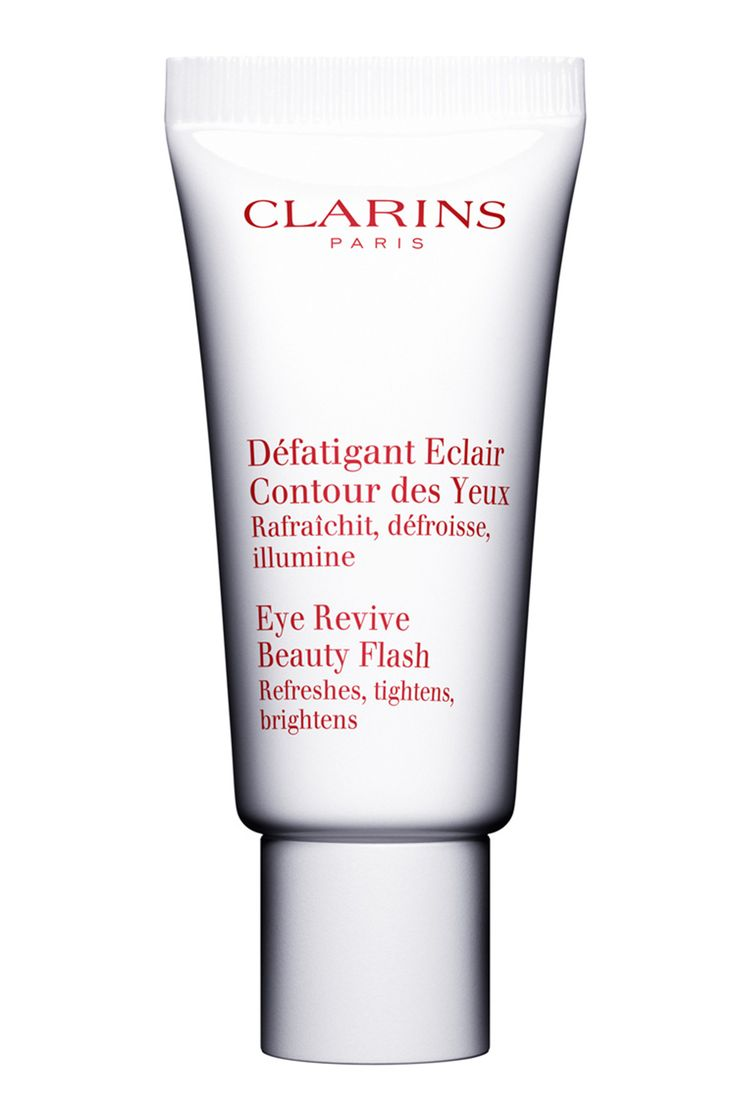 With a refreshing cream-gel texture, Clarins Eye Revive Beauty Flash rejuvenates tired eyes, to give the instant illusion of a good night's rest. Apply to clean skin by lightly tapping along the eye socket towards the bridge of your nose.    Clarins Eye Revive Beauty Flash, £29   - HarpersBAZAAR.co.u