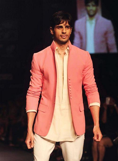 Sidharth walking for Manish Malhotra