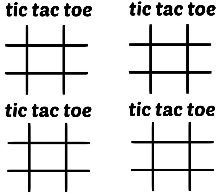 Adaptable image with regard to tic tac toe printable