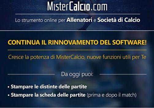 Continua il rinnovamento del software per #allenatori di #calcio!  Ora puoi stampare la distinta della partita già precompilata direttamente da http://www.mistercalcio.com/sito/